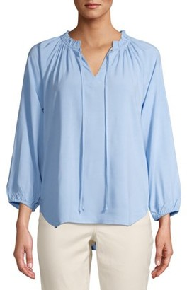 Time and Tru Women's Peasant Top