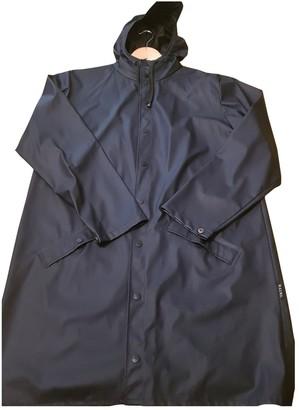 Rains Navy Polyester Coats