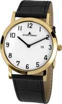 Jacques Lemans Vienna Men's & Women's 40mm Calfskin Mineral Glass Watch 1-1727E