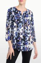 NYDJ Bohemia Bouquet Print 3/4 Sleeve Blouse