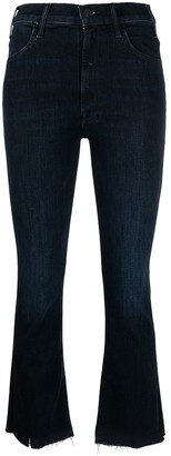 Mother Kick Flare Cropped Jeans