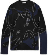 Valentino - Panther Intarsia Ribbed-knit Wool Sweater
