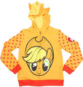 Asstd National Brand My Little Pony Girls Applejack Costume Hoodie with Crystalline and 3D Mane