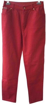 Escada Red Cotton Jeans for Women