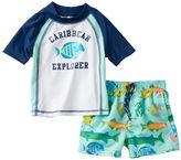 "Carter's Toddler Boy Caribbean Explorer"" Rash Guard & Swim Trunks Set"
