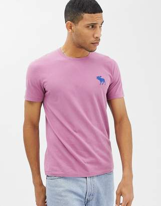 Abercrombie & Fitch large icon logo t-shirt in dark pink