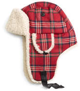 Brooks Brothers Signature Tartan and Shearling Trapper