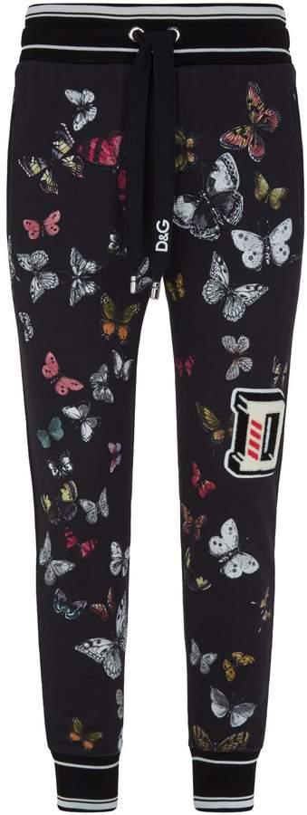 Dolce & Gabbana Butterfly Print Sweatpants