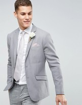 Selected Wedding Gray Cotton Jacket