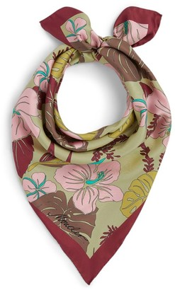 Moncler Floral Silk Scarf