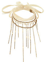 Erickson Beamon Wrap Tie Pearl Fringe Necklace