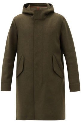 Harris Wharf London Hooded Felted-wool Parka - Dark Green