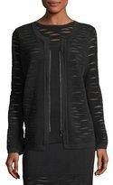 Nic+Zoe Aurora Textured Zip-Front Jacket, Petite