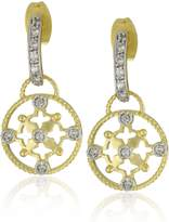 Freida Rothman TRIBECA -Plated Sterling Silver and Cubic Zirconia Drop Earrings