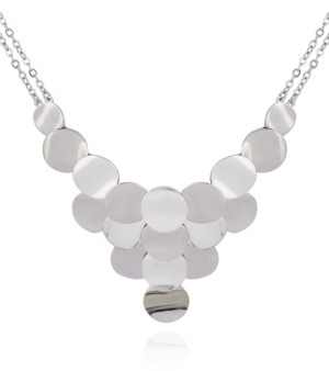 T Tahari Women's Essential Disc Statement Necklace