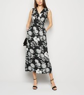 New Look Mela Floral and Spot Wrap Midi Dress