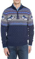 Vineyard Vines Marlin Fair Isle Quarter Zip Sweater