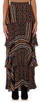 A.L.C. Women's Davis Tiered-Ruffle Long Skirt-BROWN