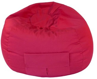 """Gold Medal Small 105"""" Red Denim Look Bean Bag with Cargo Pocket"""