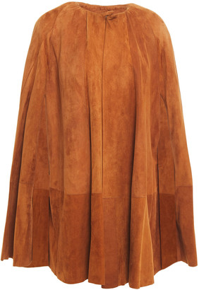 Rick Owens Gathered Suede Cape