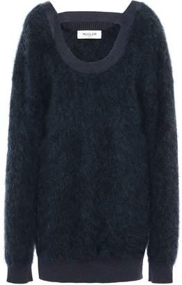 Thierry Mugler Cutout Brushed Knitted Sweater