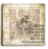'My Dad' Wood Wall Art