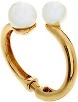 Kenneth Jay Lane Polished Gold Bracelet With Peall Ends