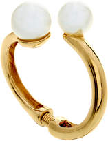 Kenneth Jay Lane Polished Gold Bracelet With Pearl Ends