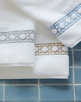 Matouk Cane-Embroidered Bath Towel