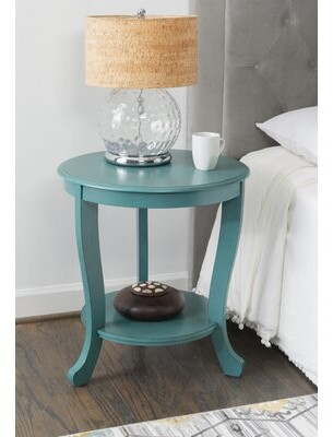 Canora Grey Dollis End Table with Storage Color: Teal