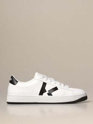 Kenzo Kourt Tiger Leather Sneakers