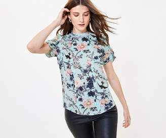 Oasis Floral Lace Insert Top