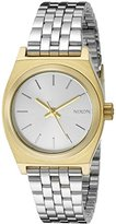 Nixon Women's A3992062 Small Time Teller Two-Tone Stainless Steel Watch