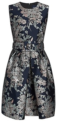Samantha Sung Rachel Blossom Jacquard Sleeveless Dress