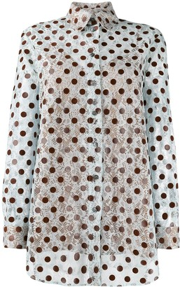 Marco De Vincenzo embroidered polka dot shirt