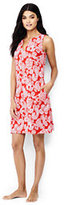 Lands' End Women's Petite Sleeveless Cotton Jersey Cover-up-Melon Breeze Graphic Paisley