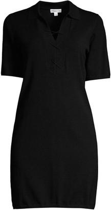 Minnie Rose Lace-Up Polo Dress