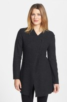 Eileen Fisher Asymmetrical Boiled Merino Wool Jacket (Regular & Petite)