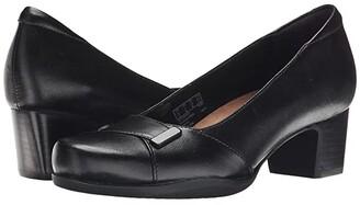 Clarks Rosalyn Belle (Black Leather) High Heels