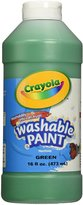 Crayola Washable Paint, Squeeze Bottle, 16 Oz, Green, Sold as 1 Each, CYO542016044