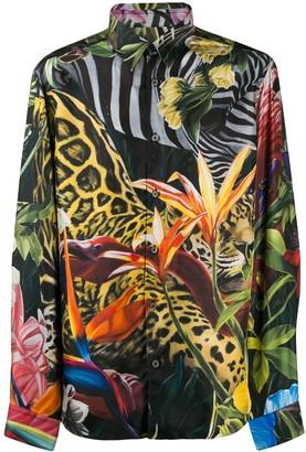 Roberto Cavalli Printed Satin Shirt