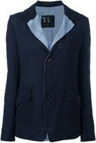 Y's stripe lapel blazer - women - Cotton/Cupro - 2