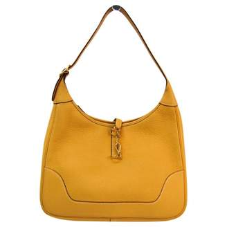 Hermes Trim Camel Leather Handbags