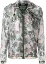 Mr & Mrs Italy textured printed zipped hoodie