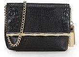 Kate Landry Crocodile-Embossed Cross-Body Bag