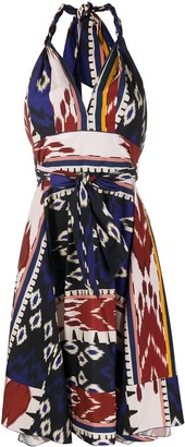 Forte Forte My Dress Navajo-print halterneck dress