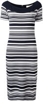 MICHAEL Michael Kors striped fitted dress - women - Polyester/Spandex/Elastane/Viscose - XS