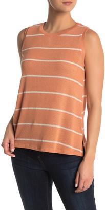 Lush Striped Knit High/Low Tank Top