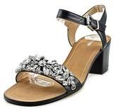Dune London Mahala Women Open Toe Leather Black Sandals.