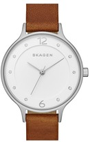Skagen Women&s Anita Leather Strap Watch